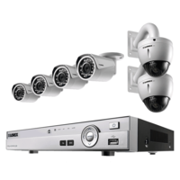Hik Vision Full Combo, HDTVI DS-2CE1ACOT-IRPF Bullet Camera 4Pcs+ Active Cable+ 1TB HDD+ HDTVI DVR 4 Channel Home Security Camera (6 TB)