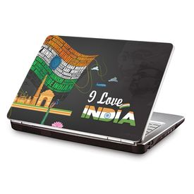 Clublaptop LSK CL 89: I Love India Laptop Skin