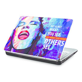 Clublaptop Art is what you make others See -CLS 155 Laptop Skin(For 15.6  Laptops)