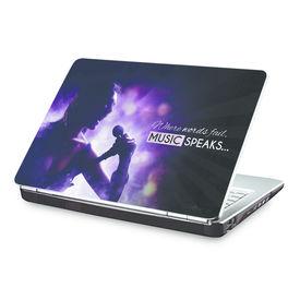 Clublaptop Music Speaks -CLS 146 Laptop Skin(For 15.6  Laptops)