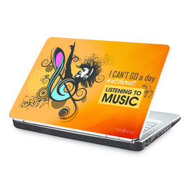 Clublaptop I Cant Go a Day Without Music -CLS 157 Laptop Skin(For 15.6  Laptops)