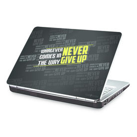 Clublaptop Never Give Up -CLS 184 Laptop Skin(For 15.6  Laptops)