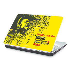 Clublaptop People Are Like Music -CLS 169 Laptop Skin(For 15.6  Laptops)