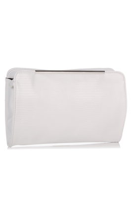 Dorothy Perkins White Bar Top Clutch