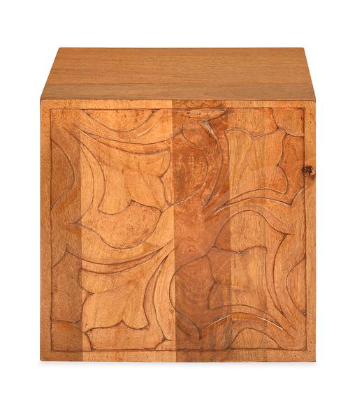 Vesta Cube Stool - @home by Nilkamal, Natural