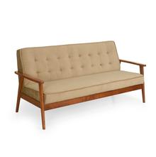 Denmark 3 Seater Sofa - @home by Nilkamal, Antique Oak