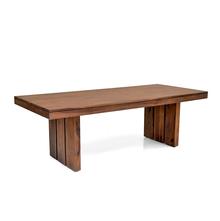 Delmonte 8 seater dining table - @home Nilkamal,  walnut