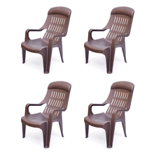 Nilkamal Weekender Garden Chair Set of 4 - Wheather Brown