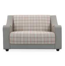 Plaid 2 Seater Sofa - @home by Nilkamal, Ice Grey