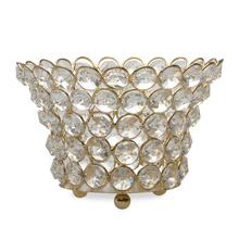 Crystal Drops Metal Small Bowl, @home By Nilkamal, Silver