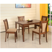 Jewel 4 Seater Dining Set, Walnut
