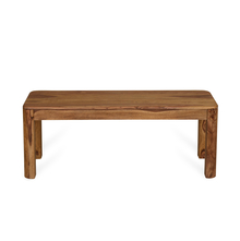 Granada 2 Seater Dining Bench - @home by Nilkamal, Natural Walnut