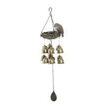 Hanging Birds Nest Large Windchime - @home by Nilkamal, Gold