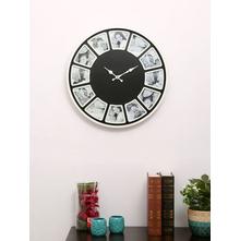 Wall Clock & Photo Frame, Black & White