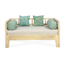 Spatial Sofa Cum Bed, Beige & Green