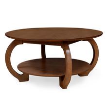 Swirl Center Table, Walnut