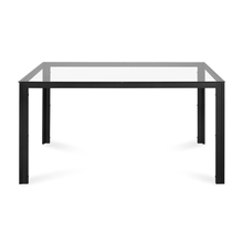 Vivian 6 Seater Dining Table With Top Glass, Clear