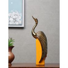 Swan Lux Mirage Showpiece, Mustard