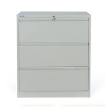 Nilkamal Retro 3 Drawer Filing Cabinet, Grey