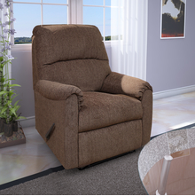 Jayden 1 Seater Sofa with 1 Manual Recliner, Walnut