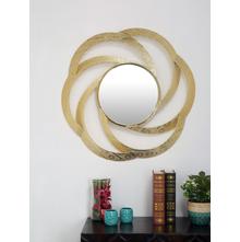 Monarc Cutwork Floral Mirror, Gold