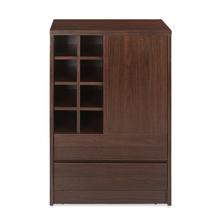 Denver Medium Bar Cabinet, Dark Walnut