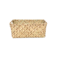 Square Basket with Handle, Brown