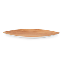 Trinity Wood Oval Serving Platter - @home by Nilkamal, Brown