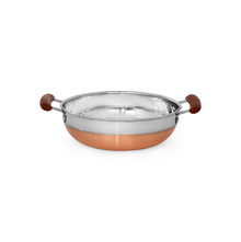 Stinless Steel Kadai with Copper Bottom, Silver