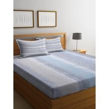 Graph 250 cm x 274 cm Double Bedsheet, Grey