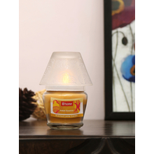 Indian Essence Lamp Candle Set, Yellow