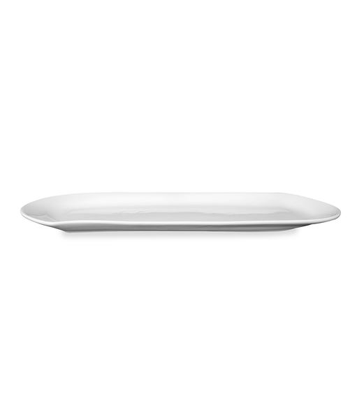 Rectangular Wave 37X14CM Serving Platter, White