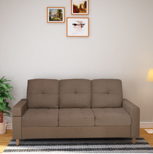 Liliana 3 Seater Sofa Cum Bed, Brown