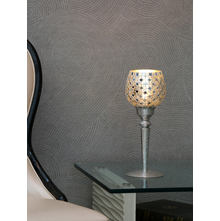 Mosaic Floral Candle Holder, Silver