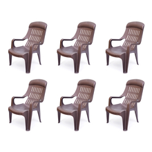 Nilkamal Weekender Garden Chair Set of 6 - Weather Brown