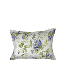 Floral 46 cm x 69 cm Pillow Cover Set of 2 - @home by Nilkamal, Indigo