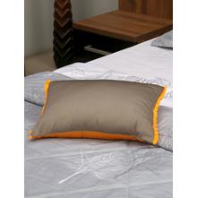 Waffle Reversible 30 x 45 cm Filled Cushion, Orange & Grey