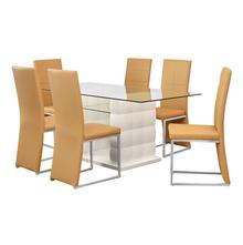Brick 6 Seater Dining Kit - @home By Nilkamal, White