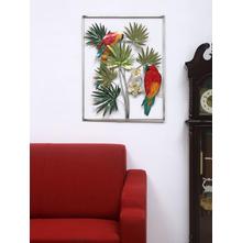 Parrots Wall Decor, Emerald