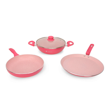 Wonderchef French Blossom Cookware Set of 4 Pieces - Pink