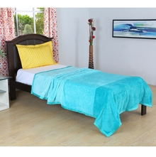 Bands 150 cm x 225 cm Single Blanket -@home by Nilkamal, Sea Green