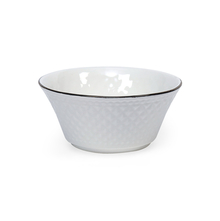 Platinum Casper Ceramic 240 ml Bowl Set of 6, White