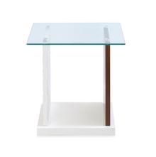 Duro Side Table - @home by Nilkamal, Walnut & Ivory
