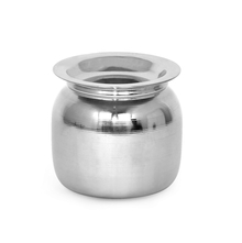 Stainless Steel 150 ml Ghee Pot with Spoon, Silver