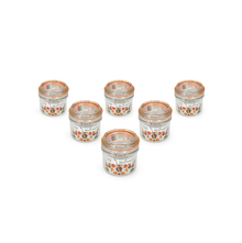 Transparent Glass 200 ml Jar Clip Set of 6, Orange