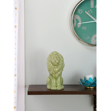 Large tropical Sitting Lion 25CM Showpiece, Green