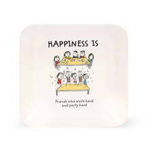 Happiness 23CM Modest French Dinner Plate, White