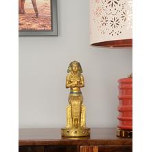 Sitting Pharaoh 12X10X26CM Showpiece, Gold