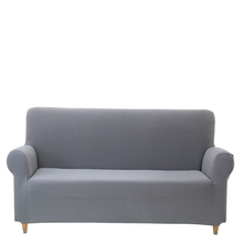 3 Seater Knit Sofa Cover, Grey