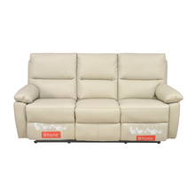 Leslie 3 Seater Sofa Manual Recliner, Cream